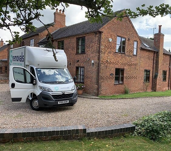 Home Removals Van Outside House